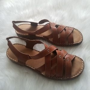 Natural Soul By Naturalizer Brown Leather Sandals